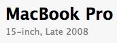 MacBook Pro - Late 2008